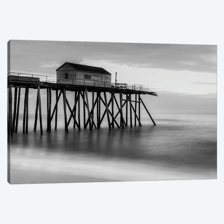 Black & White Pier Canvas Print #DVG340} by David Gardiner Canvas Art Print