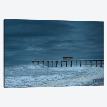 Blue Pier Canvas Print #DVG341} by David Gardiner Canvas Print
