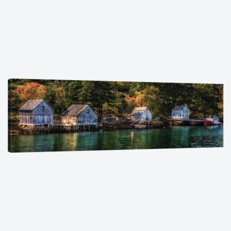 Boathouse Inlet Canvas Print #DVG344} by David Gardiner Canvas Artwork