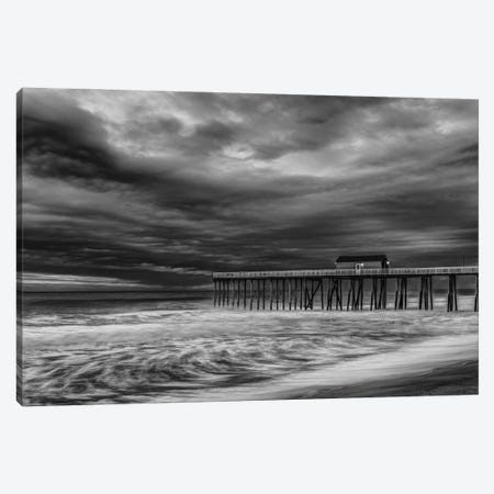 Fishing Pier Storm Canvas Print #DVG359} by David Gardiner Canvas Artwork