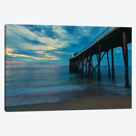 Jersey Pier Canvas Print #DVG370} by David Gardiner Canvas Artwork