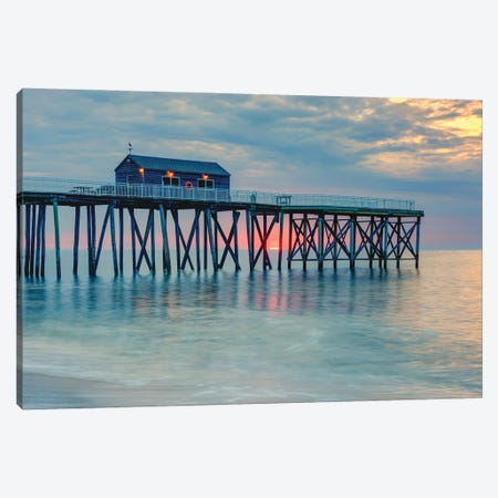 Pastel Coast Canvas Print #DVG381} by David Gardiner Art Print