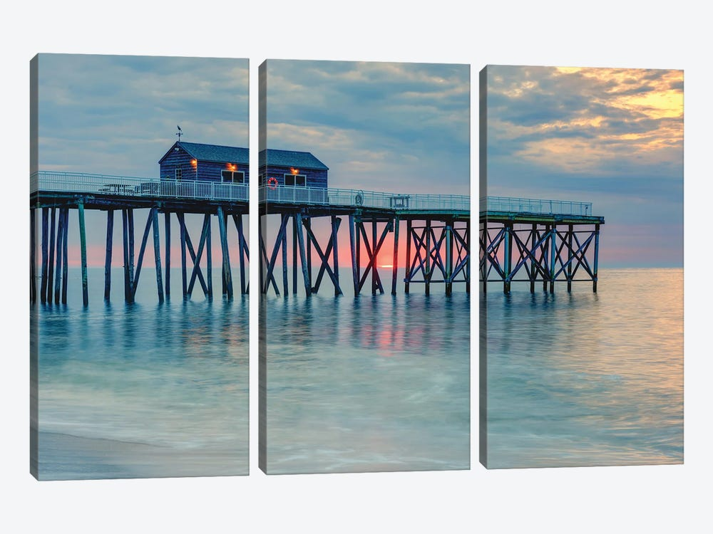Pastel Coast by David Gardiner 3-piece Canvas Art Print