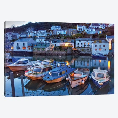 Polperro Boats 3-Piece Canvas #DVG385} by David Gardiner Canvas Artwork