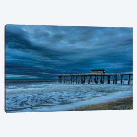 Stormy Pier Canvas Print #DVG391} by David Gardiner Canvas Art