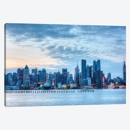Blue City Canvas Print #DVG95} by David Gardiner Art Print