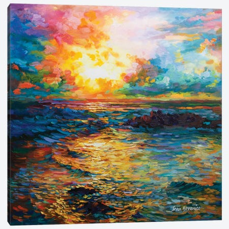Virtuous Sunset Canvas Print #DVI101} by Leon Devenice Canvas Art