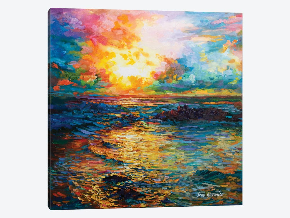Virtuous Sunset by Leon Devenice 1-piece Canvas Art Print
