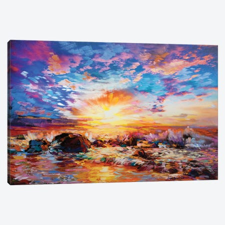 Voices Of The Ocean Canvas Print #DVI102} by Leon Devenice Canvas Wall Art