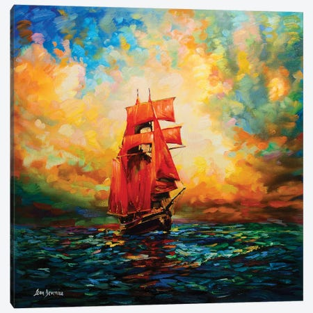 Voyages Of Imagination Canvas Print #DVI103} by Leon Devenice Canvas Artwork