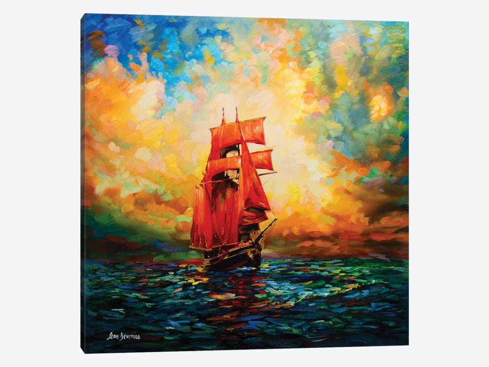 Voyages Of Imagination by Leon Devenice 1-piece Canvas Print