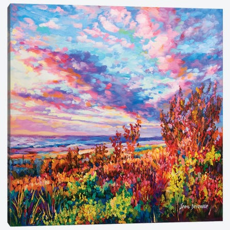 Welcome A New Day Canvas Print #DVI105} by Leon Devenice Canvas Art Print