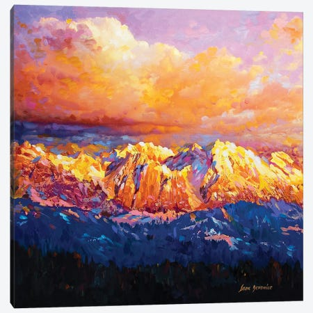 Where The Gods Dwell Canvas Print #DVI107} by Leon Devenice Canvas Art Print