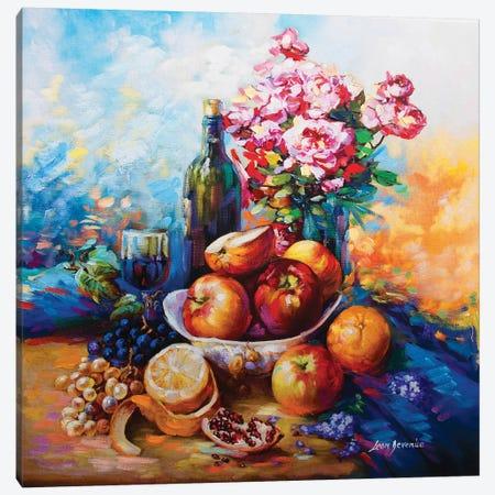 Wine & Fruits Canvas Print #DVI108} by Leon Devenice Canvas Artwork