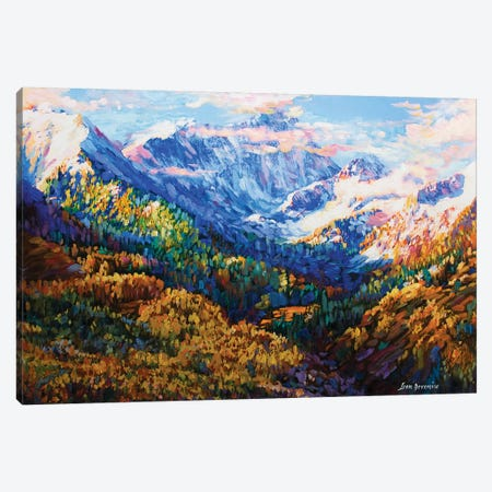 Wisdom Of The Mountains Canvas Print #DVI109} by Leon Devenice Canvas Wall Art