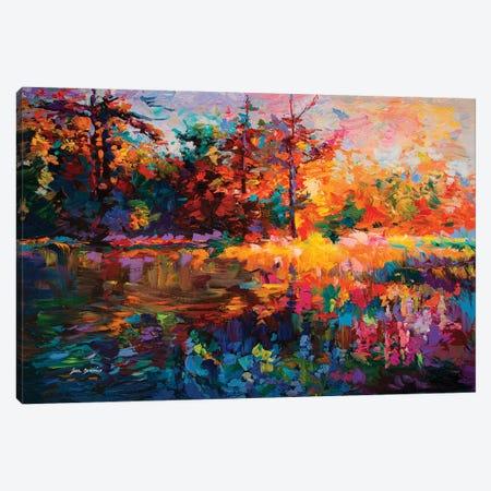 Abstract Landscape 3-Piece Canvas #DVI110} by Leon Devenice Canvas Print