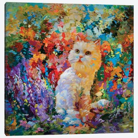 Cat Art Canvas Print #DVI111} by Leon Devenice Canvas Print