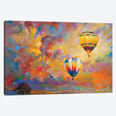 Hot Air Balloon Canvas Print #DVI112} by Leon Devenice Canvas Art Print