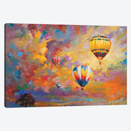 Hot Air Balloon Canvas Print #DVI112} by Leon Devenice Canvas Art Print