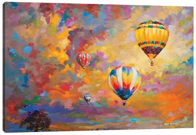 Hot Air Balloon Canvas Art Print