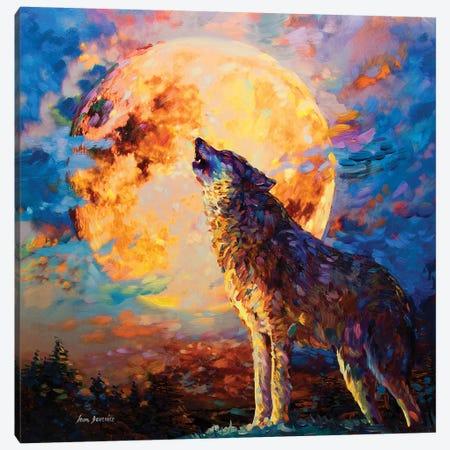 Wolf Art Canvas Print #DVI114} by Leon Devenice Canvas Artwork