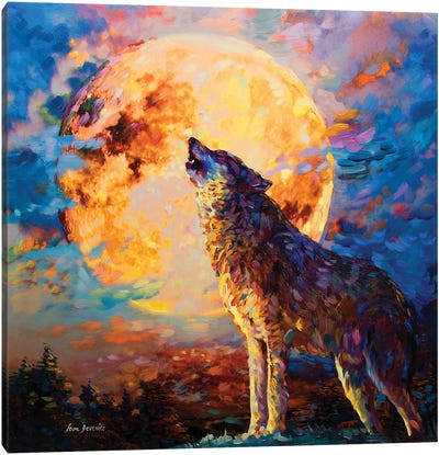 Wolf Art Canvas Art Print