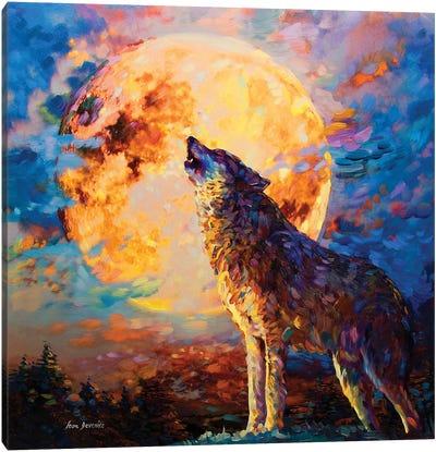 Wolf Art Canvas Art Print