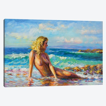Nude Art Canvas Print #DVI116} by Leon Devenice Canvas Art