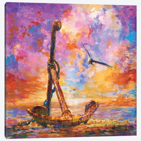 Anchor Art Canvas Print #DVI117} by Leon Devenice Canvas Wall Art