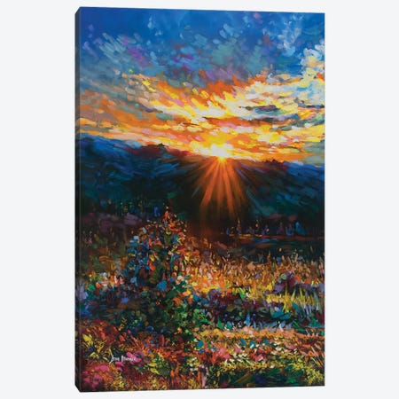 Countryside Landscape Canvas Print #DVI119} by Leon Devenice Art Print