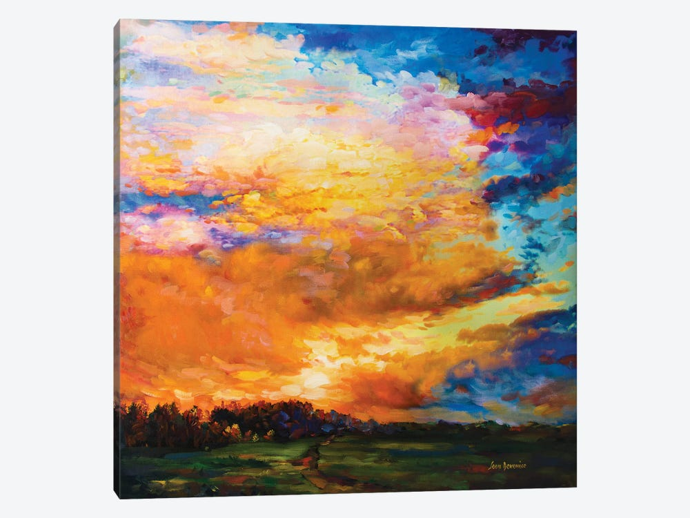 After The Sunset by Leon Devenice 1-piece Canvas Print