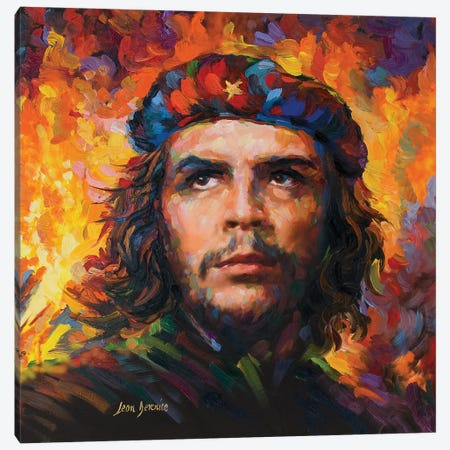 Che Guevara Canvas Print #DVI122} by Leon Devenice Canvas Wall Art
