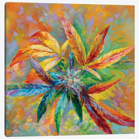 Marijuana Art  Canvas Print #DVI123} by Leon Devenice Canvas Artwork