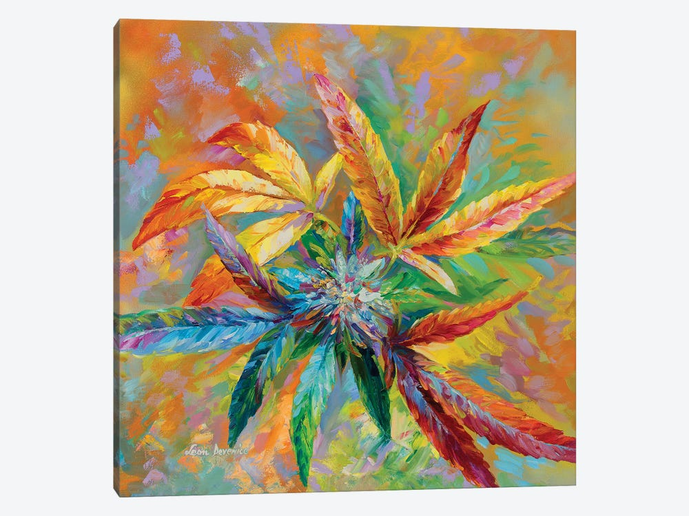 Marijuana Art  by Leon Devenice 1-piece Canvas Art Print