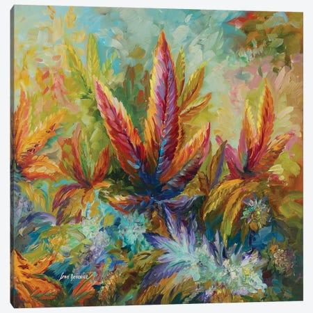 Marijuana Paradise Canvas Print #DVI125} by Leon Devenice Art Print