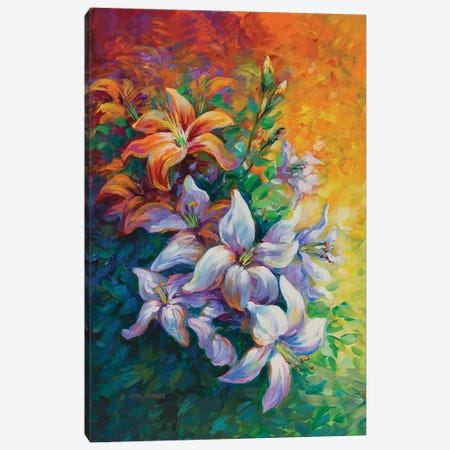 Blooming Lily  Canvas Print #DVI126} by Leon Devenice Canvas Print
