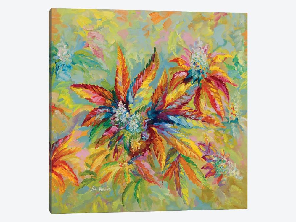Marijuana Buds & Leaves by Leon Devenice 1-piece Canvas Art