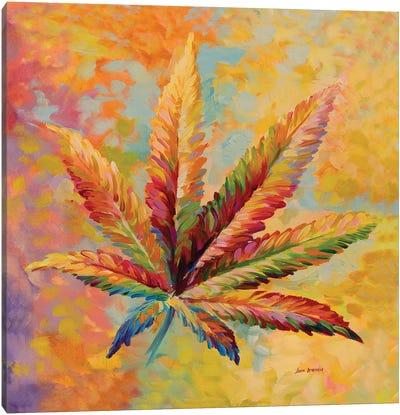 Marijuana Leaf V2 Canvas Art Print