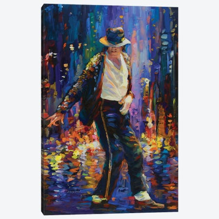 Michael Jackson Canvas Print #DVI132} by Leon Devenice Canvas Art Print
