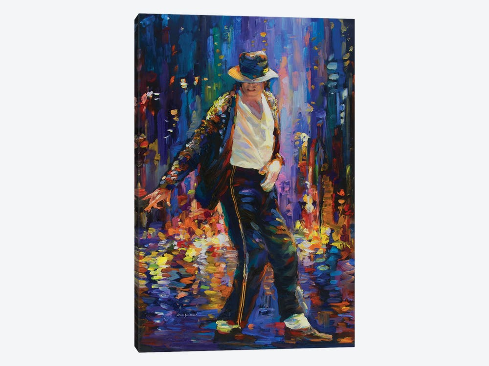 Michael Jackson by Leon Devenice 1-piece Canvas Art Print