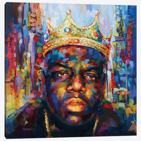 Hip Hop Legend #1 Canvas Print #DVI135} by Leon Devenice Canvas Art