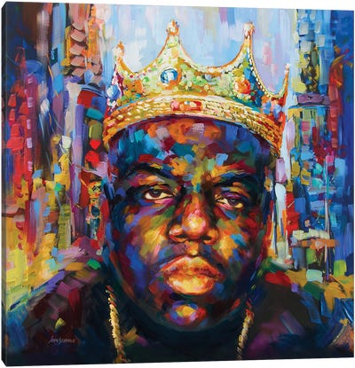 Hip Hop Legend #1 Canvas Art Print