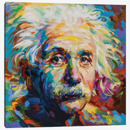 Einstein Canvas Print #DVI136} by Leon Devenice Canvas Artwork
