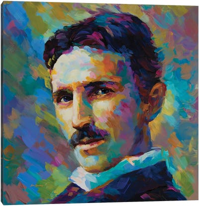 Tesla Canvas Art Print