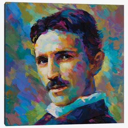 Tesla Canvas Print #DVI139} by Leon Devenice Canvas Art Print