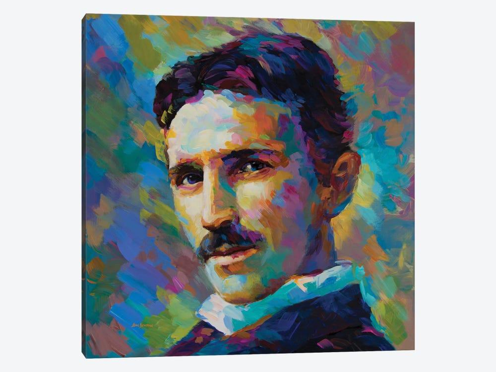 Tesla by Leon Devenice 1-piece Canvas Artwork
