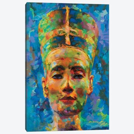 Nefertiti Canvas Print #DVI141} by Leon Devenice Canvas Wall Art