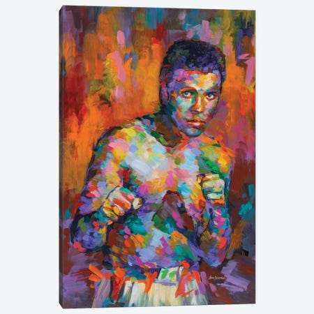 Ali, Boxing Legend Canvas Print #DVI142} by Leon Devenice Canvas Artwork