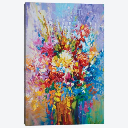 Floral Mosaic Canvas Print #DVI144} by Leon Devenice Canvas Print