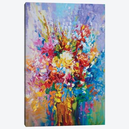 Floral Mosaic Canvas Print #DVI144} by Leon Devenice Canvas Print